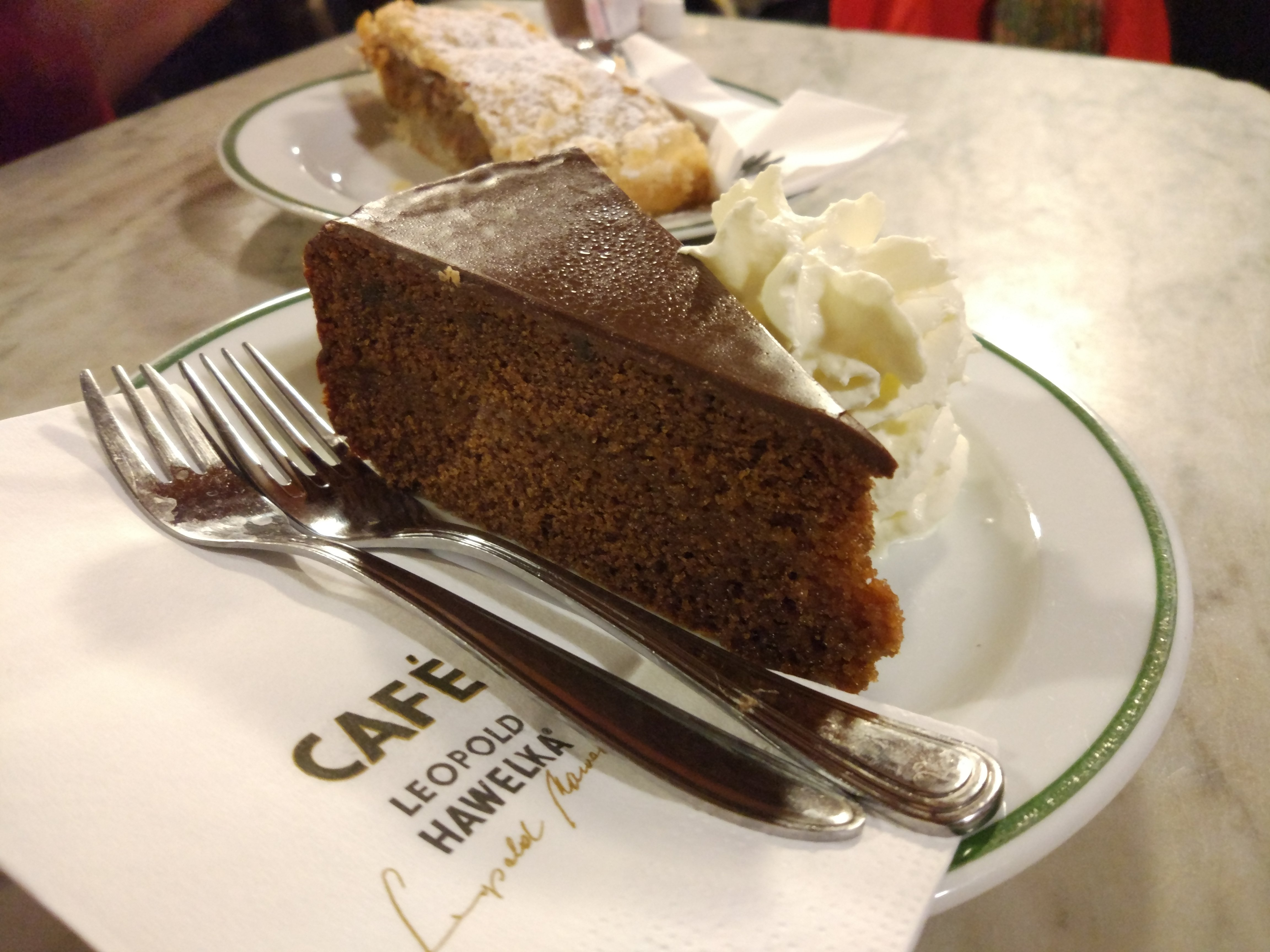 Torta al cioccolato del Cafe Hawelka