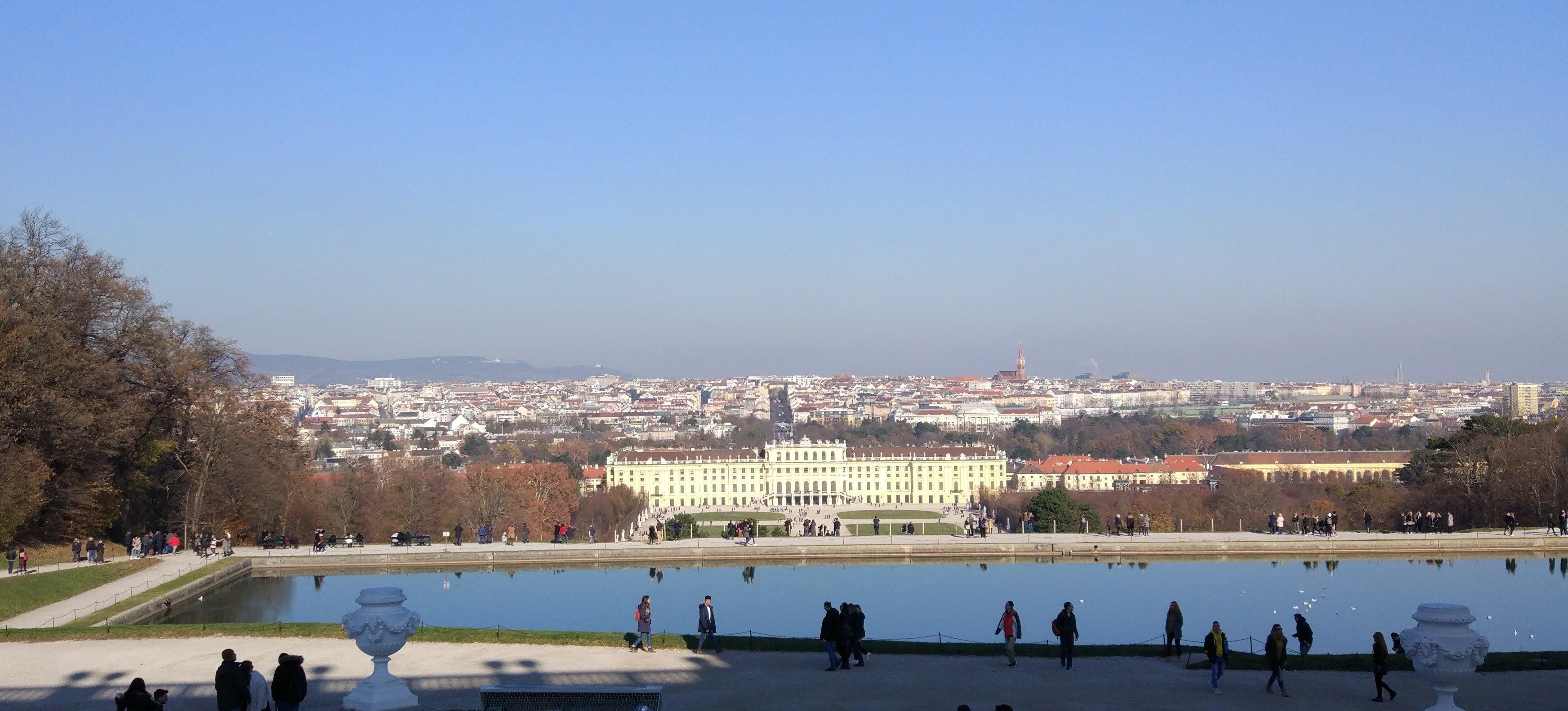 Vista dalla Gloriette del Palazzo di Schonbrunn