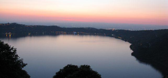 Tramonto lago Albano
