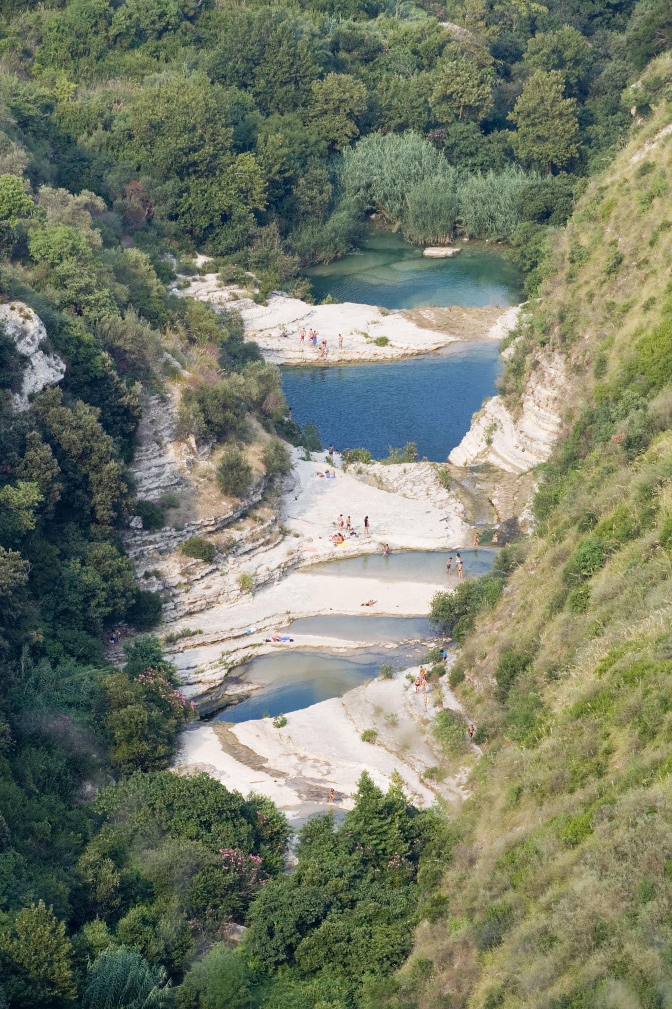 Riserva dei laghetti di Cavagrande del Cassibile a Siracusa, Sicilia