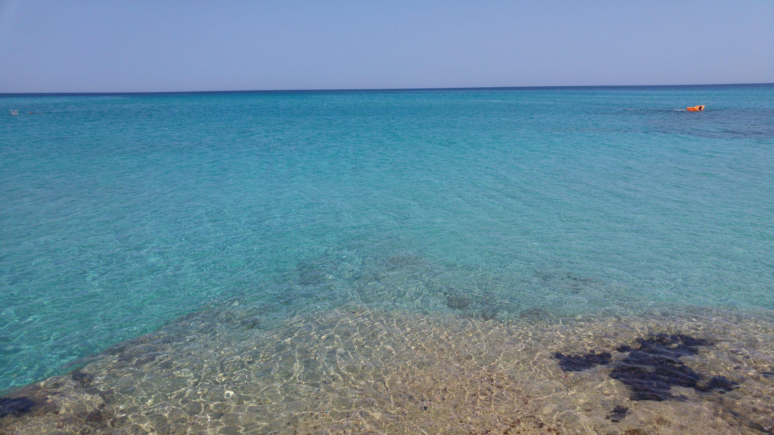 mare azzurro trasparente della Sicilia