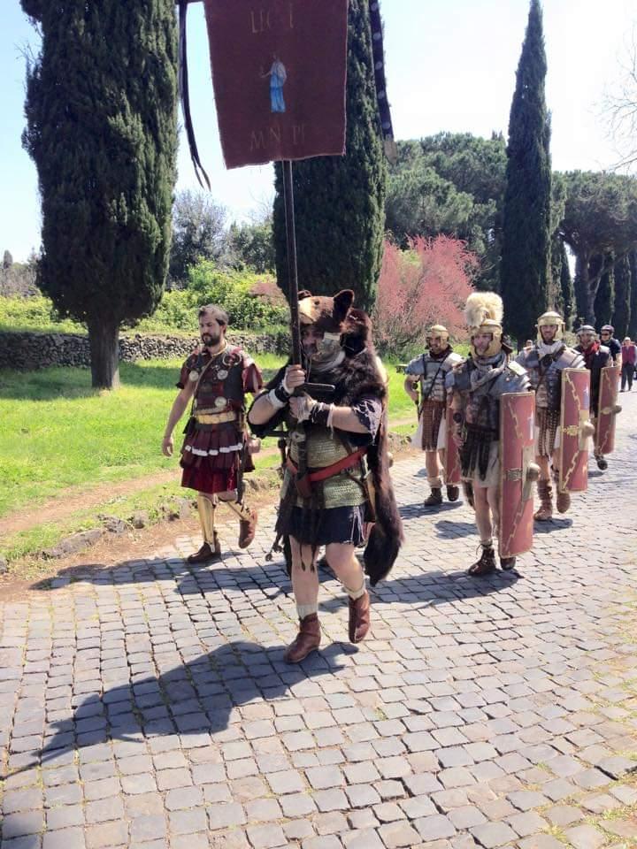 gruppi storici antichi romani gladiatori appia antica