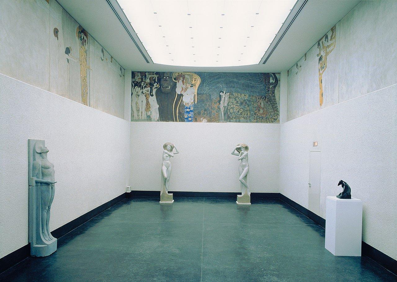 Stanza del Fregio di Beethoven Gustav Klimt.