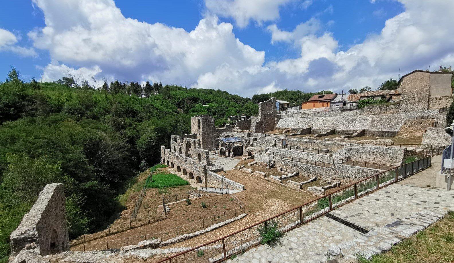 panorama fonderia di Mongiana in Calabria